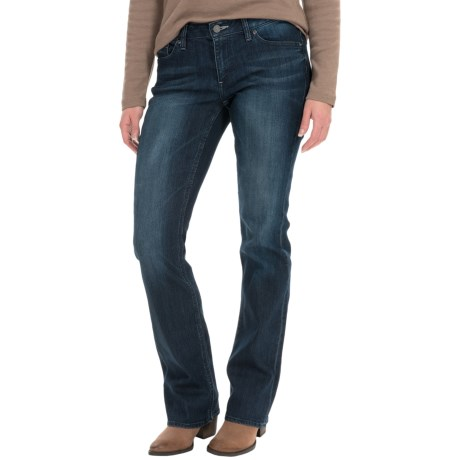Curvy Stretch Jeans - Low Rise, Bootcut (For Women)