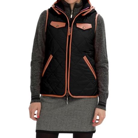 Neve Jett Quilted Hooded Vest (For Women)