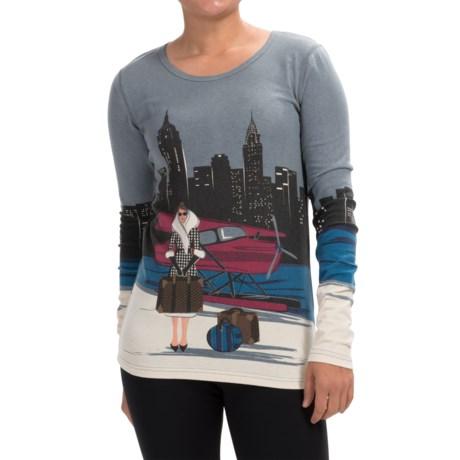 Neve New York Crew Neck Shirt - Long Sleeve (For Women)