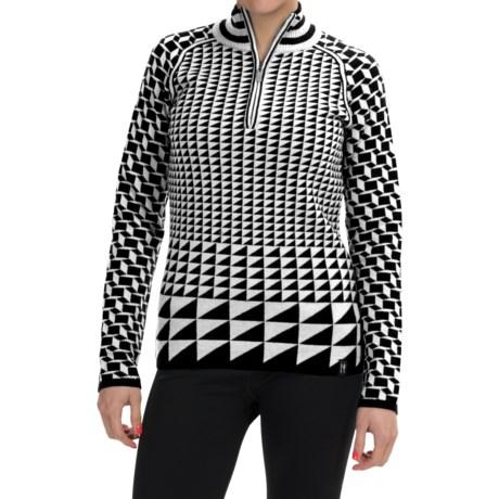 Neve Jo Merino Wool Sweater - Zip Neck (For Women)
