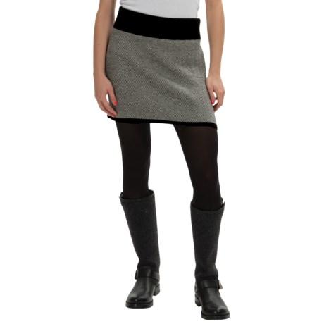Neve Liona Ultrafine Merino Wool Houndstooth Skirt (For Women)