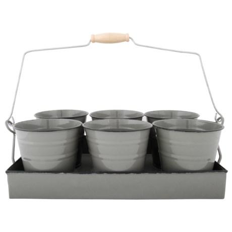 Esschert Design Flower Pot Tray - Set of 6