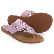 Olivia Miller Girl Flip-Flops (For Little Girls and Big Girls) in Pink - Closeouts