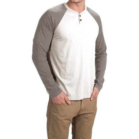 Ecoths Jace Henley Shirt - Organic Cotton Blend, Long Sleeve (For Men)