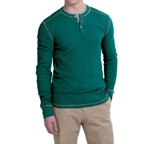 Ecoths Adrian Henley Shirt - Organic Cotton Blend, Long Sleeve (For Men)