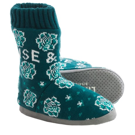 Life is good® Rise and Shine Floral Slipper Socks (For Women)