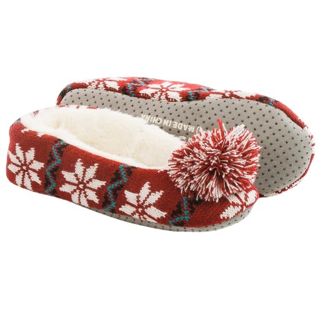 Life is good® Holiday Knit Ballet Slippers (For Women)
