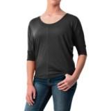 Specially made Dolman Sleeve Shirt - Cotton-Modal, Short Sleeve (For Women)