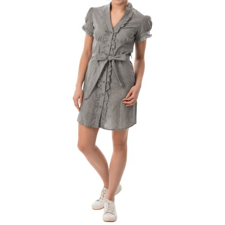 She's Cool Belted Dress - Short Sleeve (For Women)