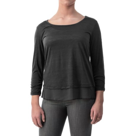 Specially made Shirred-Cuff Shirt - Long Sleeve (For Women)