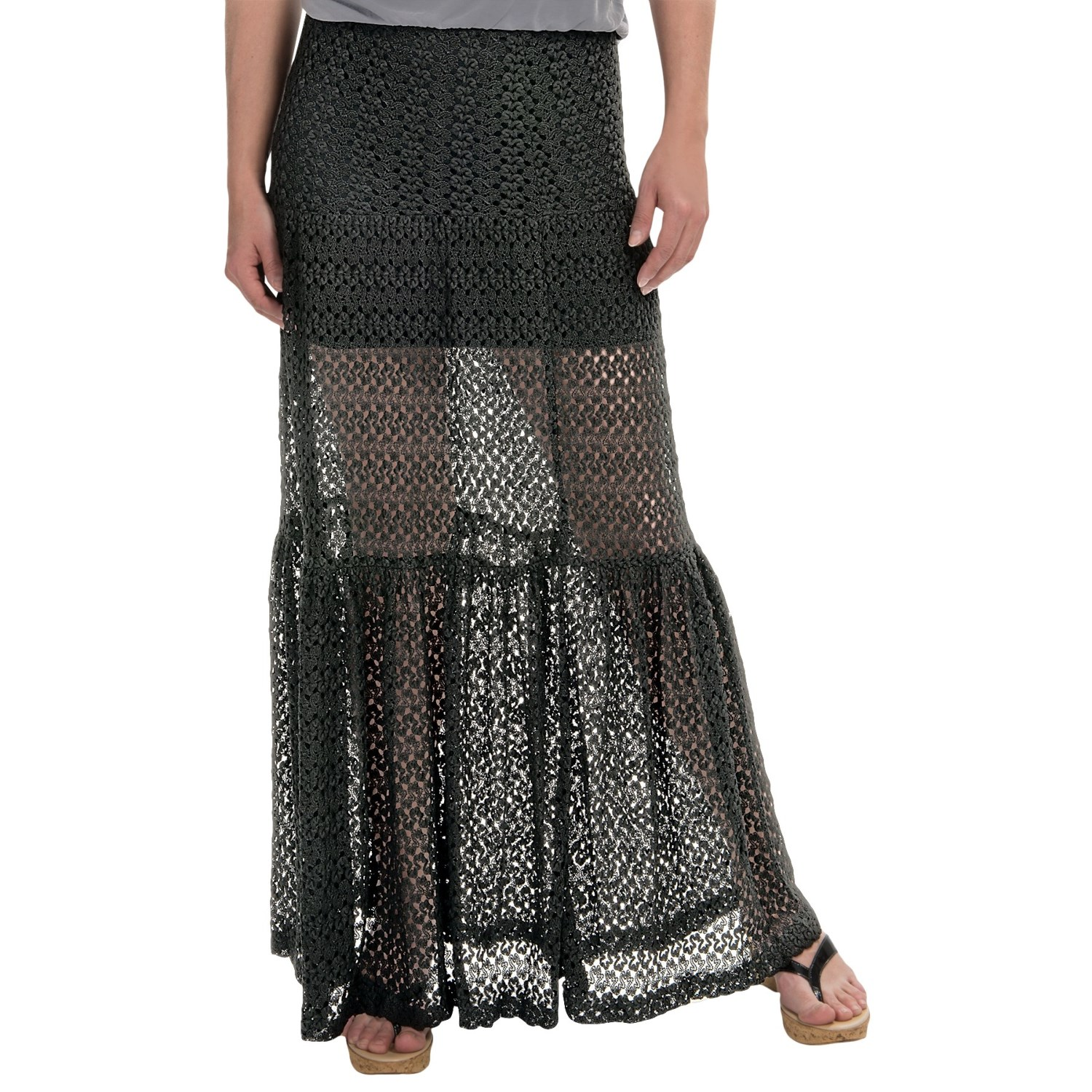 olivaceous crochet maxi skirt for 134cc save 87