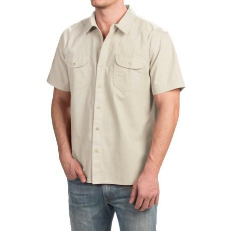 True Grit Brushed Cotton Solid Shirt - Short Sleeve (For Men)