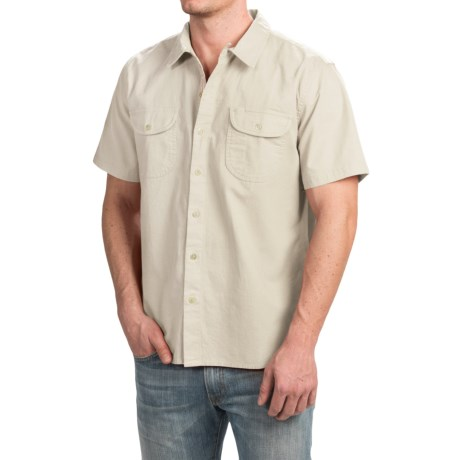 True Grit Brushed Cotton Solid Shirt - Short Sleeve (For Men)