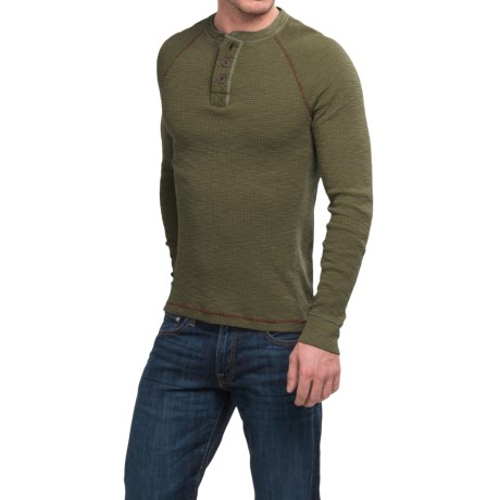 True Grit Waffle Thermal Henley Shirt - Long Sleeve (For Men)