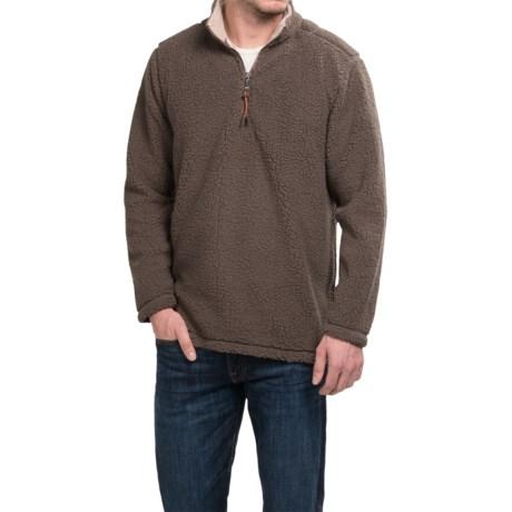 True Grit Sherpa Fleece Shirt - Zip Neck, Long Sleeve (For Men)