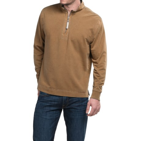 True Grit Cashmere Fleece Sweater - Cotton Blend, Zip Neck (For Men)