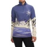 Neve Portillo Silk-Merino Wool Shirt - Zip Neck, Long Sleeve (For Women)