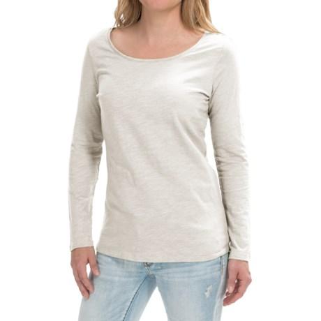 Cotton Slub Knit Shirt - Long Sleeve (For Women)