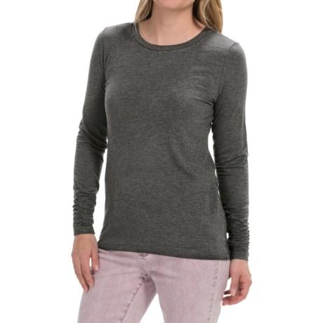Shirred-Cuff Shirt - Stretch Rayon, Long Sleeve (For Women)