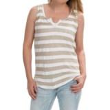 Striped Tank Top - Cotton-Linen (For Women)
