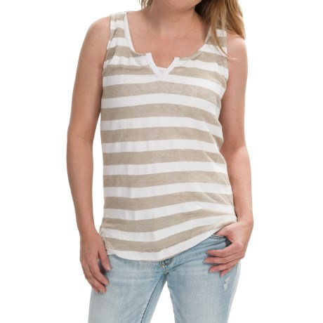 Striped Tank Top - Cotton-Linen (For Women)