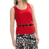 Scalloped Edge Tank Top - Cotton-Modal (For Women)