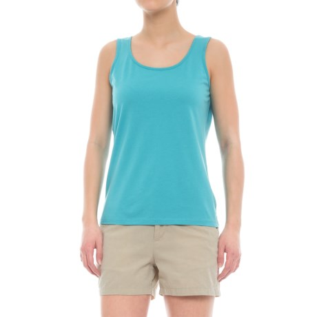 Specially made Scalloped Edge Tank Top - Cotton-Modal (For Women)