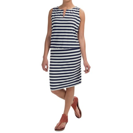 Striped Cotton Dress - Sleeveless (For Women)