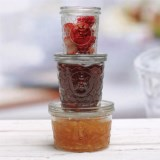 Circle Glass Jam Jars - Set of 3