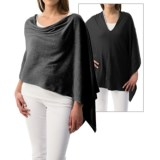Minnie Rose Reversible Ruana Poncho (For Women)