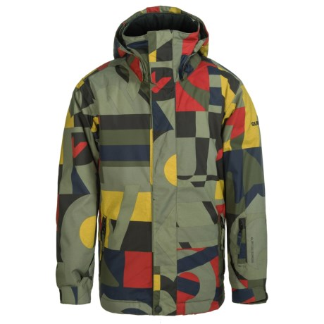 Quiksilver Mission Printed Snowboard Jacket - Waterproof, Insulated (For Big Boys)