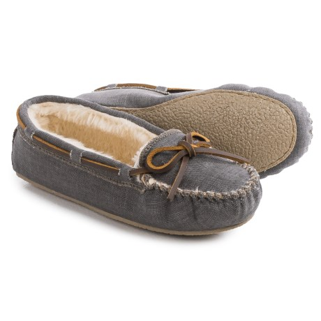Minnetonka Cally Moccasins - Canvas (For Women)