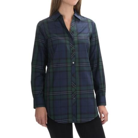 Foxcroft Shaped Tartan Tunic Shirt - Long Sleeve (For Women)