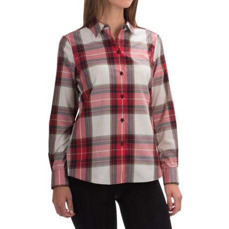 Foxcroft Shaped Tartan Blouse - Long Sleeve (For Women)