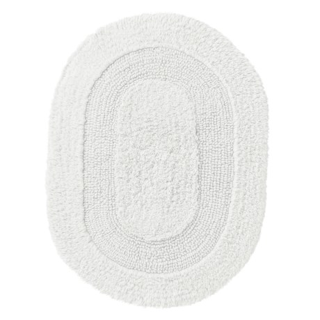 "Vista Home Fashions Oval Cotton Bath Rug - 17x24"", Reversible"