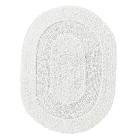 "Vista Home Fashions Oval Cotton Bath Rug - 17x24"", Reversible"