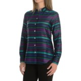 Foxcroft Striped Blouse - Long Sleeve (For Women)