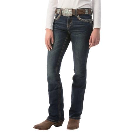 Grace in LA Embellished Jeans - Bootcut, Stretch Denim (For Women)