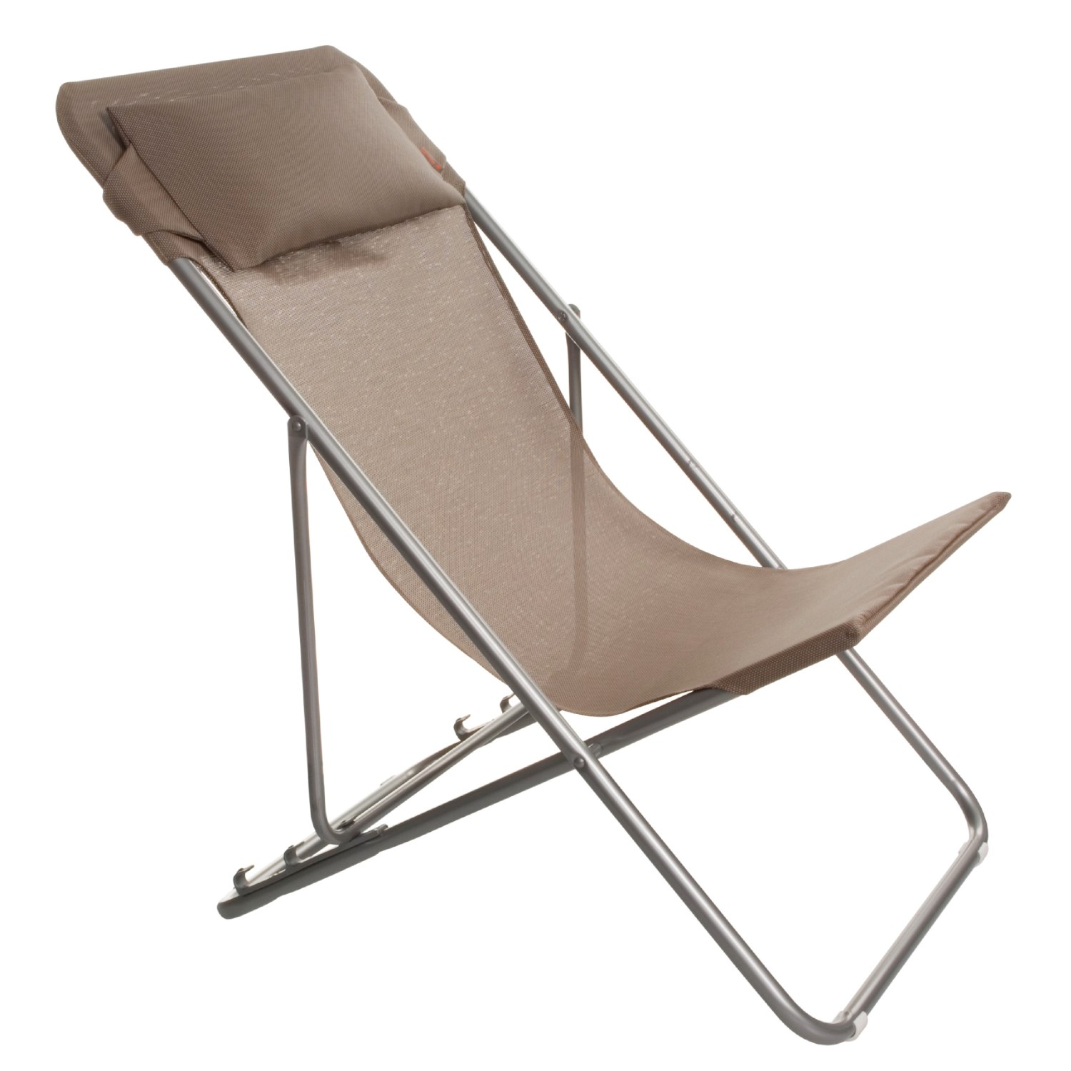 Lafuma transatube xl folding chair with headrest 1357d - Chaise pliante lafuma ...