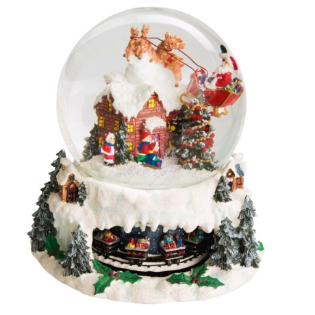 Santa's Workshop, Inc. Musical Snow Globe - Up On The Rooftop