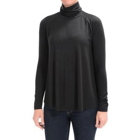 Lilla P Slinky Jersey Swing Turtleneck - Long Sleeve (For Women)
