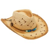 Panama Jack Drifter Cowboy Hat - Paper Straw (For Women)