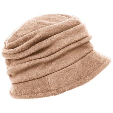 Scala Pleated Microfleece Cloche Hat (For Women)