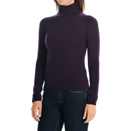 Adrienne Vittadini Cashmere Turtleneck Sweater (For Women)