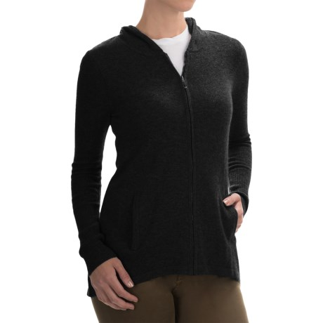 Max Studio Cashmere Hooded Cardigan Sweater (For Women)