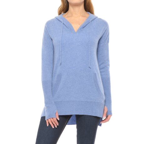 Max Studio Cashmere Hooded Sweater (For Women)