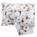 Christy Snowflower Pillow Shams - King, 300 TC Cotton, Pair