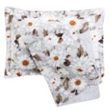 Christy of England Christy Snowflower Pillow Shams - Standard, 300 TC Cotton, Pair