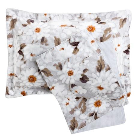 Christy Snowflower Pillow Shams - Standard, 300 TC Cotton, Pair