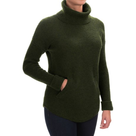 Max Studio Textured Turtleneck Sweater - Wool-Yak Blend (For Women)